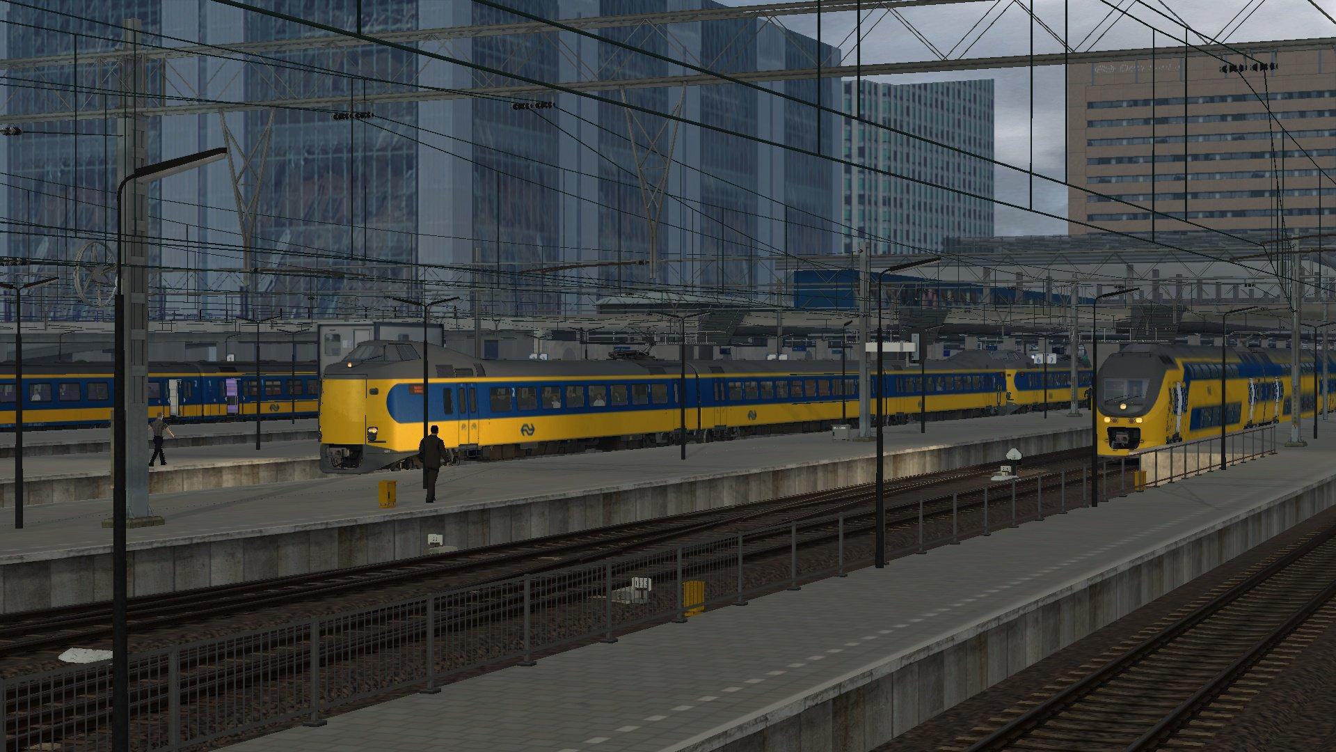 Meerdere Intercity's op Den Haag CS